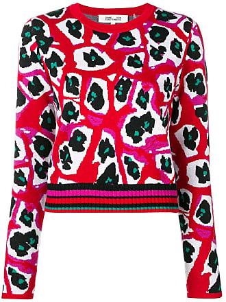 Diane Von Fürstenberg Suéter estampado de tricô - Vermelho