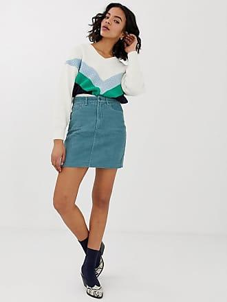 Vero Moda cord mini skirt - Blue