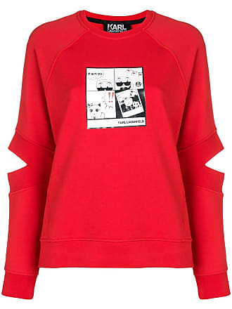 Karl Lagerfeld Moletom com estampa - Vermelho