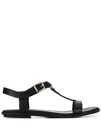 529ed7499 Tommy Hilfiger monogram buckled sandals - Black