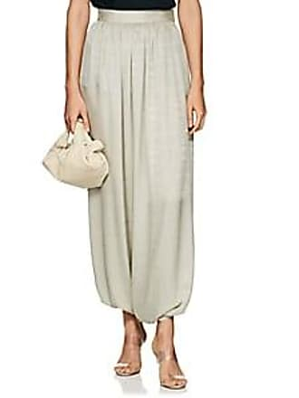 c1e6ee7c0fe The Row Womens Hayden Geometric-Pattern Silk Harem Pants - Seafoam Size 4