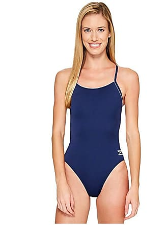 f6452a702a9c3 Speedo Solid Speedo(r) Endurance + Thin Strap (Natical Navy) Womens  Swimsuits