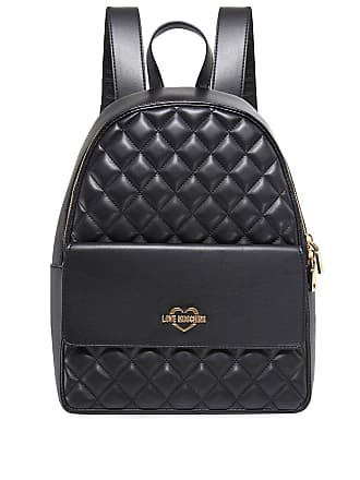 683991fcbdb3 Love Moschino Moschino Love Moschino Womens Quilted Leather Backpack Black  One Size