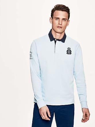 Henley Royal Regatta Mens Embroidered Cotton-Jersey Rugby Shirt   Medium   White