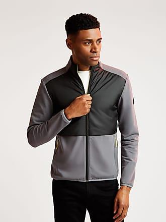 Aston Martin Mens Contrast Panel Sweatshirt   Medium   Iron Grey   Cotton