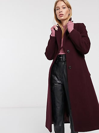 Whistles double breasted jacket in plum-Black