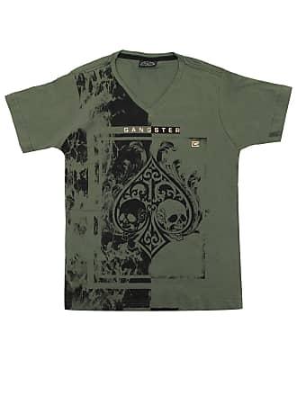 Gangster Camiseta Gangster Menino Outras Verde
