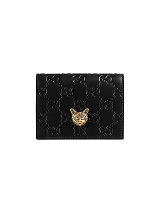 4c0bbf04c65 Gucci Gucci Signature card case with cat - Black