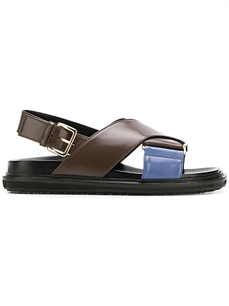 19a01f3e7cb Marni Fussbett cross-over sandals - Brown