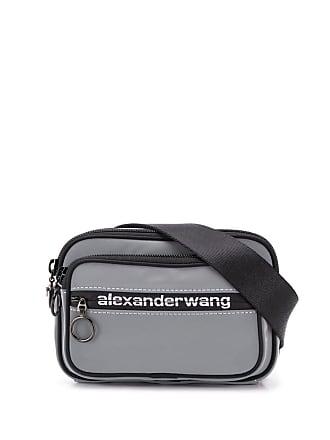 Alexander Wang Pochete com logo - Cinza