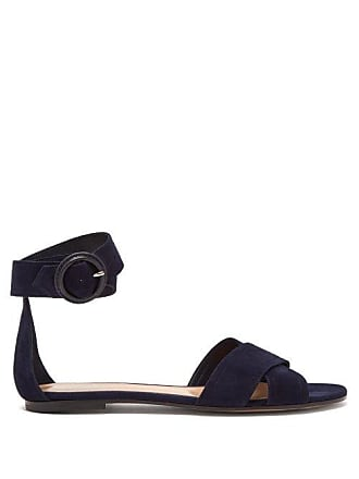 d1db21520cd3be Gianvito Rossi Aiden Suede Sandals - Womens - Navy