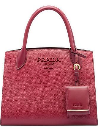 84ebc78ae Prada Bolsa tote Monochrome de couro Saffiano - Vermelho
