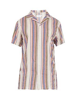 Onia Vacation Striped Short Sleeved Shirt - Mens - Multi