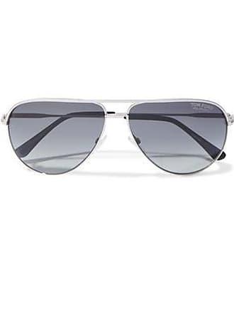 9f28b8f58445c Tom Ford Tom Ford Woman Erin Aviator-style Silver-tone Sunglasses Gunmetal  Size