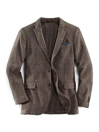d0ef0ce12575d3 Walbusch Herren Anzugjacke Regular Fit Braun einfarbig mit Stretcheinsatz