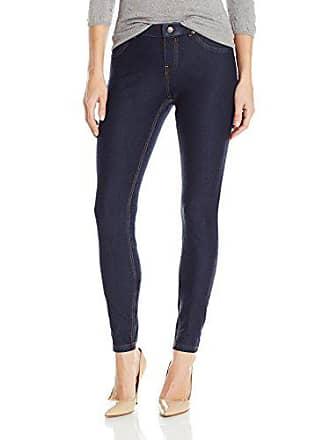 Hue Womens Plus Size Essential Denim Leggings, Deep Indigo Wash, 1X