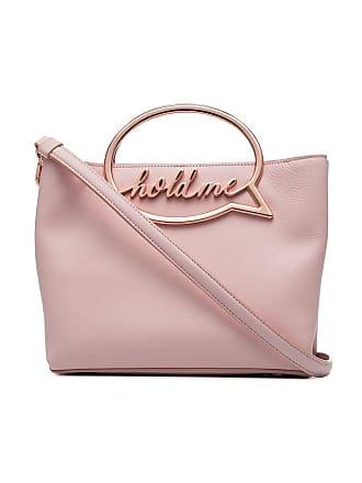 Sophia Webster Hold Me speech bubble leather shoulder bag - Rosa