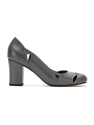Sarah Chofakian Sapato de couro - Cinza
