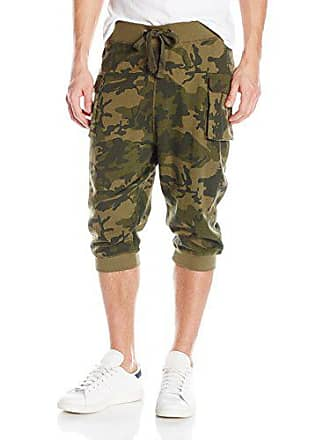 2(x)ist Mens Cargo Cropped Pant, Olive Camo, Large