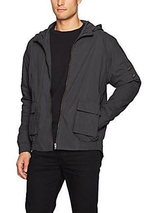 Zanerobe Mens Rise-Box Hood Jacket, Black XL