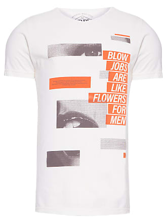 PURPLE YELLOW CAMISETA MASCULINA BLOW JOBS - OFF WHITE