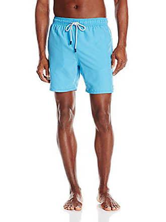 afd6b6c0f0e80 Tom & Teddy Mens Solid Elastic Waist Swim Trunks, Malibu Blue, XX-Large