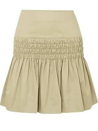 e51ea6f9e2 Isabel Marant Oliko Smocked Cotton-poplin Mini Skirt - Beige