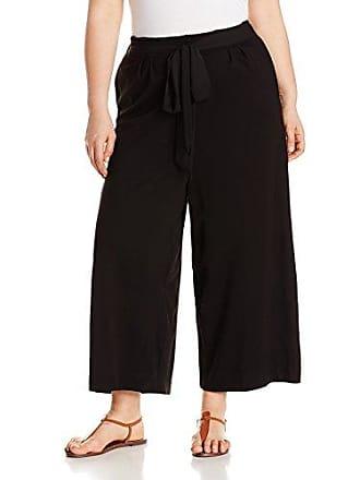 Joan Vass Womens Plus Size Culottes, Black, 3X
