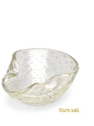 Cristais cá d'Oro Bowl 2 Tela Transparente com Ouro