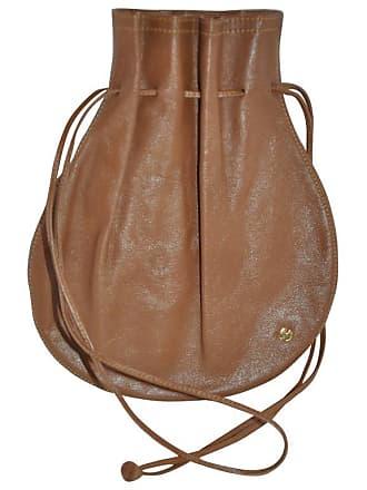 c739a2cee9 Halston Heritage 1970s Halston Brown Calfskin Drawstring Pouch Bag