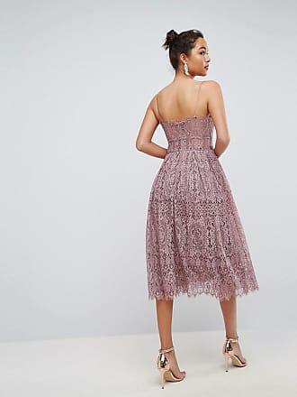 5d281b3b28c Asos ASOS Lace Cami Midi Prom Dress - Purple