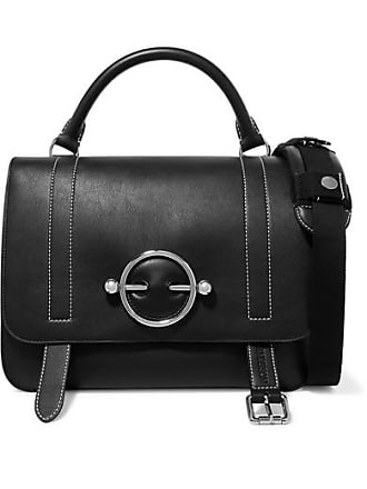 J.W.Anderson Disc Leather And Suede Shoulder Bag - Black