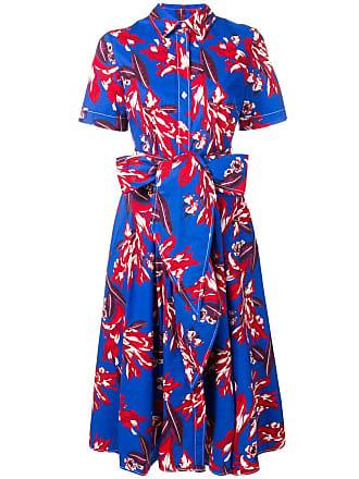 P.A.R.O.S.H. floral shirt dress - Blue
