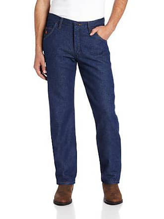 Wrangler Mens Size Tall Flame-Resistant Relaxed-Fit Lightweight Jean, Prewash 31WX38L