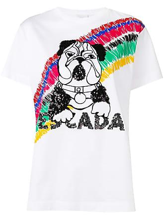 Escada Sport Camiseta com aplicação de cachorro - Branco