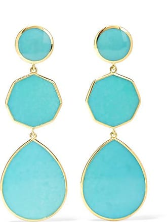 Ippolita Polished Rock Candy Crazy 8s 18-karat Gold Turquoise Earrings