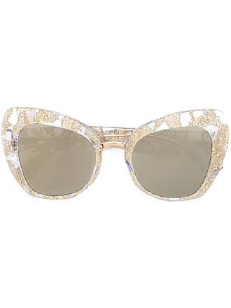 e276a943233fb Dolce   Gabbana Eyewear Óculos de sol gatinho oversized - Metálico
