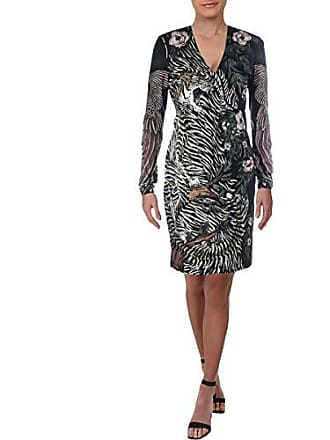 e9e0db74a5edb Just Cavalli Womens Clash of Nature Print Dress, Black Variant, 42