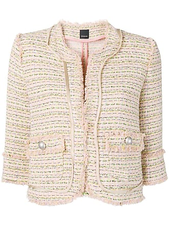 Pinko 3/4 sleeve tweed jacket - Neutrals
