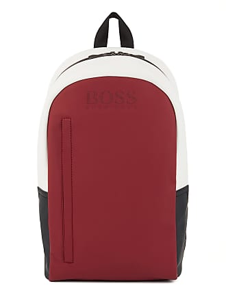 BOSS Colorblock backpack in rubberized fabric