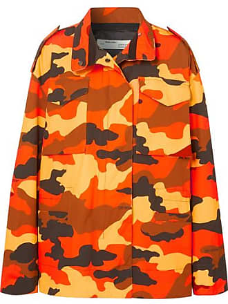Off-white Oversized Camouflage-print Cotton Jacket - Orange