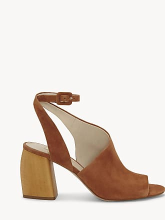 Louise et Cie Womens Kyvie Slingback Block Heels Cinnamon Size 9 Leather From Sole Society