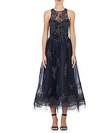 76583b9e5071 Monique Lhuillier Womens Embellished Tulle Sleeveless Gown - Navy Size 6