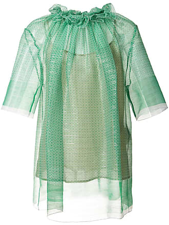 Stella McCartney ruched blouse - Green