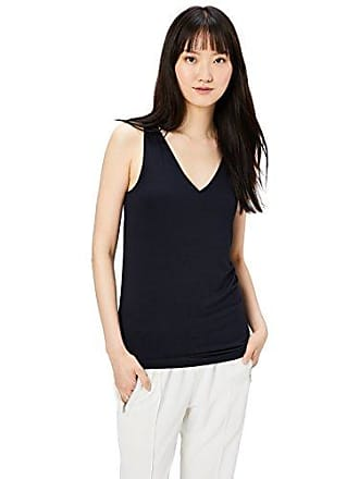 Daily Ritual Womens Jersey V-Neck Tank, Navy, X-Large