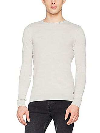 Guess Ls Rn Camou Knit Fra, Sweat-Shirt Homme, Beige (Hukh Hunter 59322979eff
