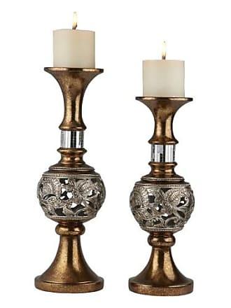 ORE International Langi Candleholder - Set of 2