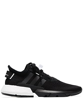 adidas black Pod knitted low-top sneakers