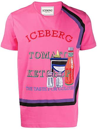 Iceberg embroidered crewneck T-shirt - Pink