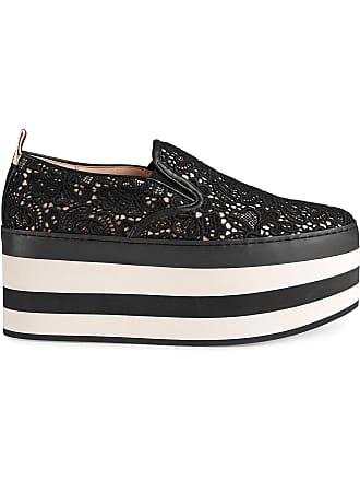 Gucci chaussures de skate en dentelle à plateforme - Noir 3893cdacc7ff